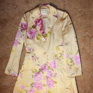 Banana Republic Silk Peony Trench Coat